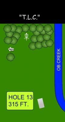 Morse Park North, Main course, Hole 13 Hole sign