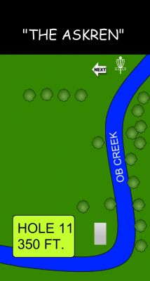 Morse Park North, Main course, Hole 11 Hole sign