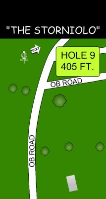 Morse Park North, Main course, Hole 9 Hole sign