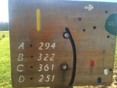 Quail Ridge, Main course, Hole 1 Tee pad