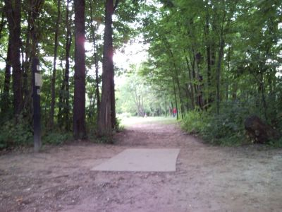 Holly Woods, Main course, Hole 1 Tee pad