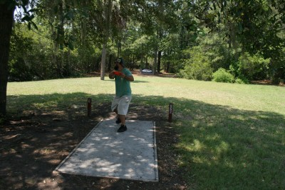 Trophy Lakes, Main course, Hole 3 Middle tee pad