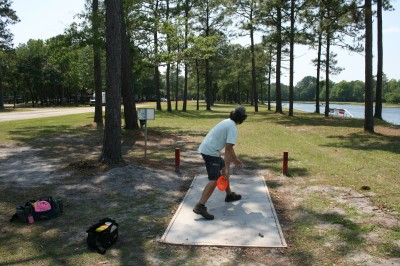 Trophy Lakes, Main course, Hole 18 Middle tee pad
