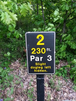 MTU Disc Golf, Main course, Hole 2 Hole sign