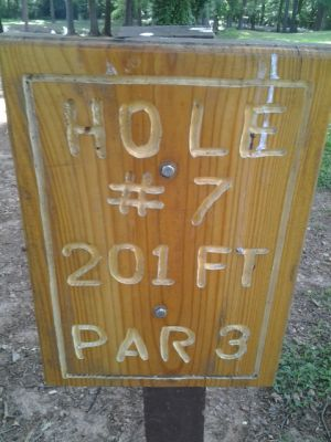 Holmes Park, Main course, Hole 7 Hole sign