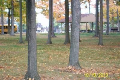 Hughes Park, Main course, Hole 13 Tee pad