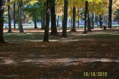 Hughes Park, Main course, Hole 4 Tee pad