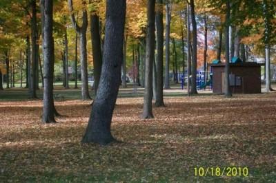 Hughes Park, Main course, Hole 18 Tee pad