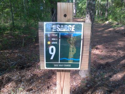 Sergeant Jasper Park, The Sarge, Hole 9 Hole sign