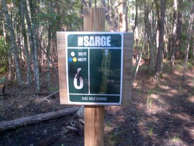 Sergeant Jasper Park, The Sarge, Hole 6 Hole sign