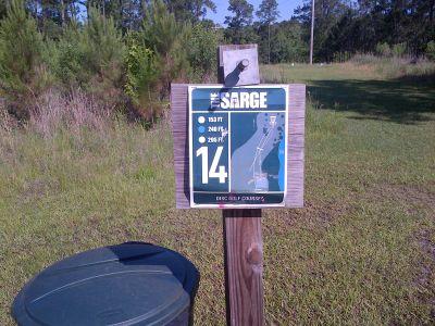 Sergeant Jasper Park, The Sarge, Hole 14 Hole sign
