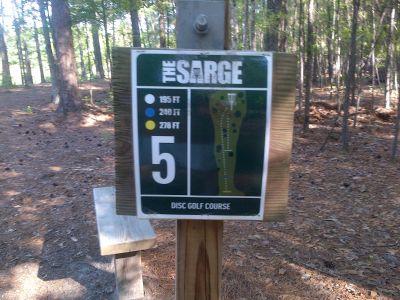 Sergeant Jasper Park, The Sarge, Hole 5 Hole sign