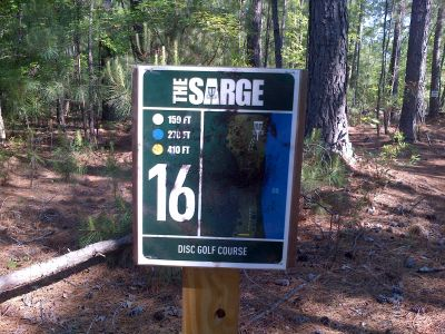 Sergeant Jasper Park, The Sarge, Hole 16 Hole sign
