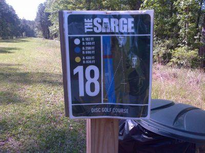 Sergeant Jasper Park, The Sarge, Hole 18 Hole sign