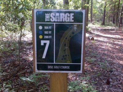 Sergeant Jasper Park, The Sarge, Hole 7 Hole sign