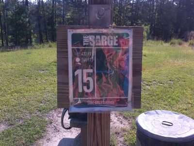 Sergeant Jasper Park, The Sarge, Hole 15 Hole sign