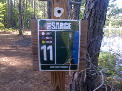 Sergeant Jasper Park, The Sarge, Hole 11 Hole sign