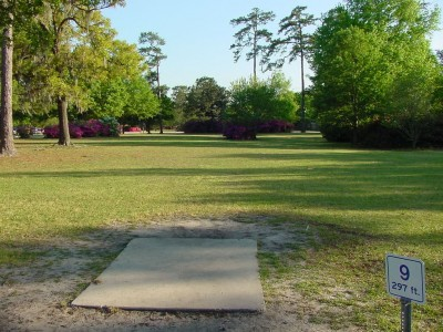 Park Circle, Main course, Hole 9 Tee pad