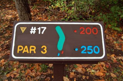 Willow Metropark, Main course, Hole 17 Hole sign