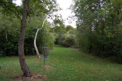 Willow Metropark, Main course, Hole 20 Reverse (back up the fairway)