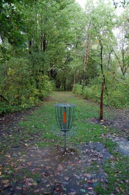 Willow Metropark, Main course, Hole 5 Reverse (back up the fairway)