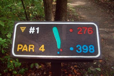 Willow Metropark, Main course, Hole 1 Hole sign
