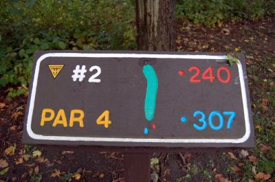 Willow Metropark, Main course, Hole 2 Hole sign