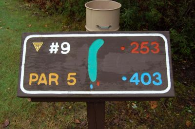 Willow Metropark, Main course, Hole 9 Hole sign