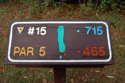 Willow Metropark, Main course, Hole 15 Hole sign