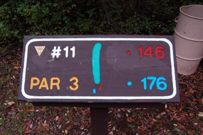 Willow Metropark, Main course, Hole 11 Hole sign