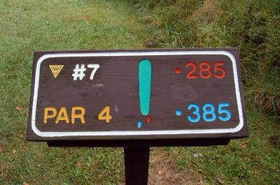Willow Metropark, Main course, Hole 7 Hole sign