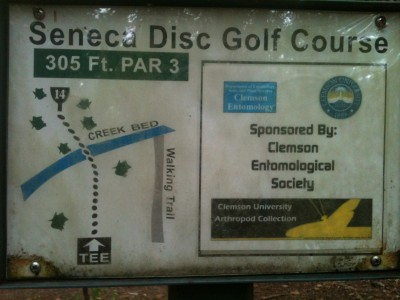 Shaver Recreation Center, Main course, Hole 14 Hole sign