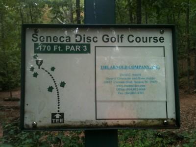 Shaver Recreation Center, Main course, Hole 8 Hole sign