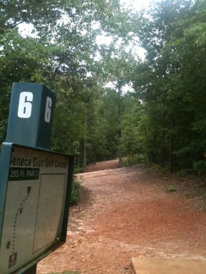 Shaver Recreation Center, Main course, Hole 6 Tee pad