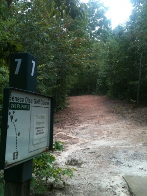 Shaver Recreation Center, Main course, Hole 7 Tee pad