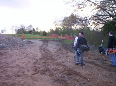 Giles Run @ Laurel Hill Park, Main course, Hole 8 Long approach