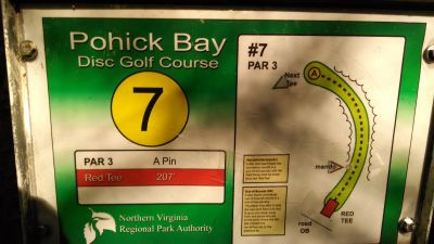 Pohick Bay Regional Park, Main course, Hole 7