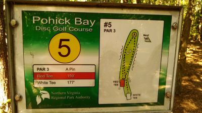 Pohick Bay Regional Park, Main course, Hole 5