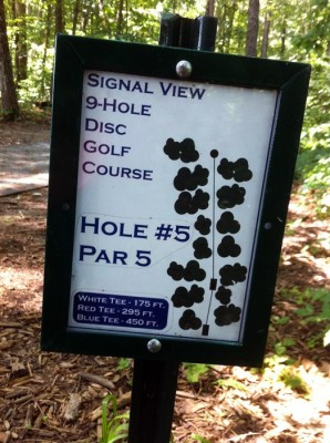 Signal View, Main course, Hole 5 Hole sign