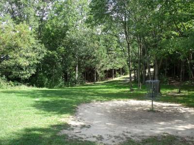 Oshtemo Township Park, Main course, Hole 18 Reverse (back up the fairway)