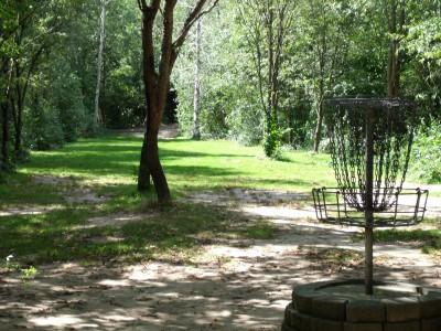 Oshtemo Township Park, Main course, Hole 8 Reverse (back up the fairway)