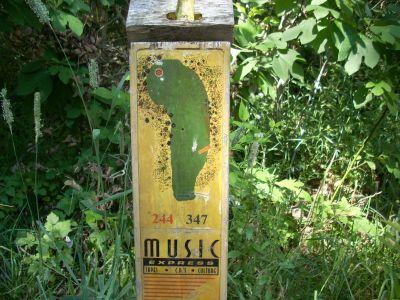 Oshtemo Township Park, Main course, Hole 1 Hole sign