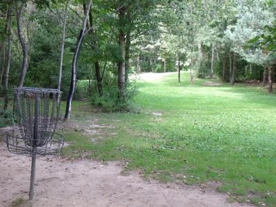 Oshtemo Township Park, Main course, Hole 13 Reverse (back up the fairway)