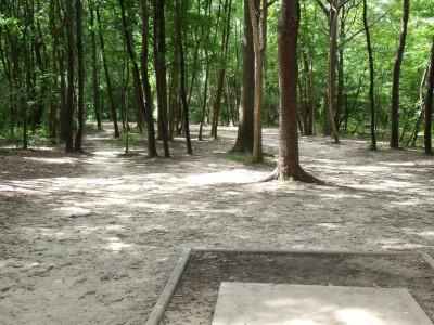 Oshtemo Township Park, Main course, Hole 3 Short tee pad