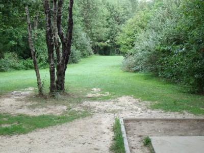 Oshtemo Township Park, Main course, Hole 12 Short tee pad