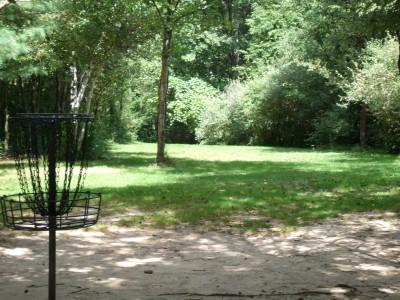 Oshtemo Township Park, Main course, Hole 6 Reverse (back up the fairway)