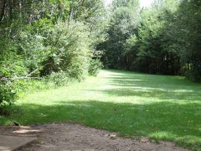 Oshtemo Township Park, Main course, Hole 5 Short tee pad
