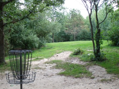 Oshtemo Township Park, Main course, Hole 11 Reverse (back up the fairway)