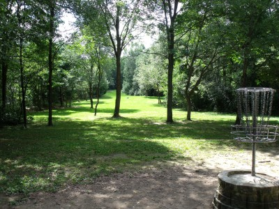 Oshtemo Township Park, Main course, Hole 12 Reverse (back up the fairway)