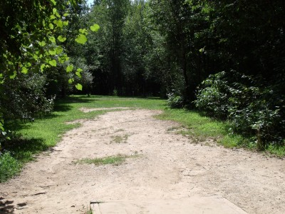 Oshtemo Township Park, Main course, Hole 6 Short tee pad